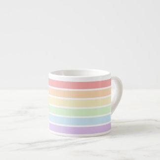 Pastel Rainbow Stripes Espresso Cup
