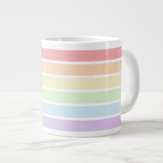 Pastel Rainbow Stripes Jumbo Mug