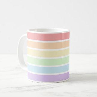 Pastel Rainbow Stripes Mug