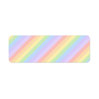 Pastel Rainbow Stripes. Return Address Label