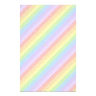 Pastel Rainbow Stripes. Stationery