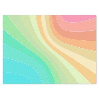 pastel rainbow tissue paper