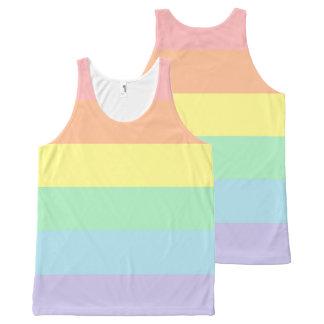 Pastel Rainbow Unisex Tank Top All-Over Print Tank Top