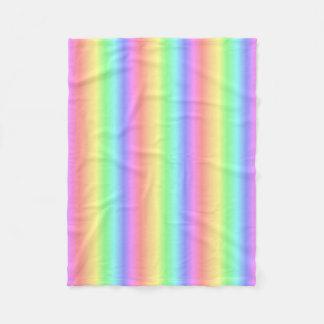 Pastel Rainbow Vertical Fleece Blanket