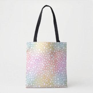 Pastel Rainbow Watercolor Cheetah Tote Bag