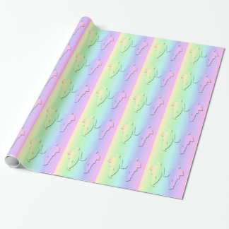 Pastel Rainbow Wedding Giftwrap for Gay Men Wrapping Paper