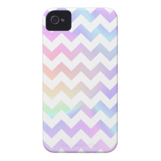 Pastel Rainbow White Chevron iPhone 4 Case