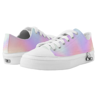 Pastel, Rainbow with Lace Accents Printed Shoes