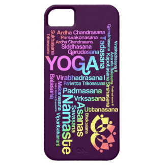 Pastel Rainbow Yoga Positions in Sanskrit iPhone 5 Cover