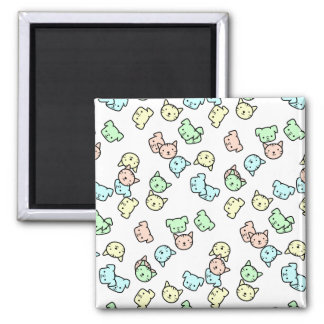 Pastel Raining Cats and Dogs Magnet