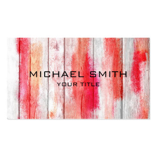 Pastel Red on Wood #2 Pack Of Standard Business Cards