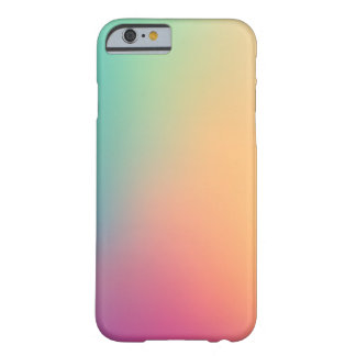 Pastel Red Pink Teal Yellow Ombre iPhone 6 Case Barely There iPhone 6 Case