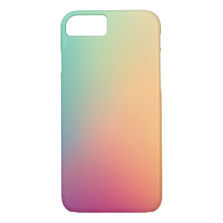 Pastel Red Pink Teal Yellow Ombre iPhone 7 Case