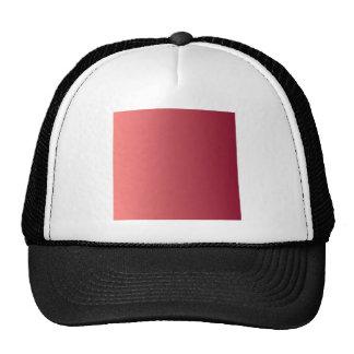 Pastel Red to Burgundy Vertical Gradient Trucker Hat
