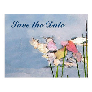 Pastel Reflections Save the Date Postcard