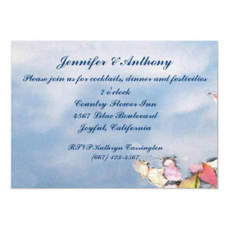 Pastel Reflections Wedding Reception Announcements