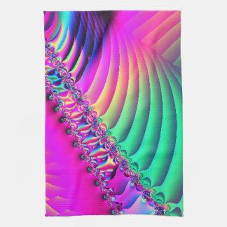 Pastel Ribbon Fractal Tea Towel