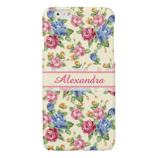 Pastel Romantic blossom Pink, Red, Blue Roses name iPhone 6 Plus Case