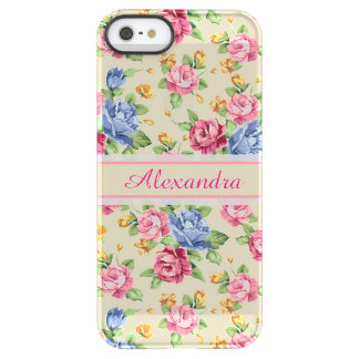 Pastel Romantic blossom Pink, Red, Blue Roses name Permafrost® iPhone SE/5/5s Case