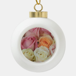 Pastel rose experience ornament