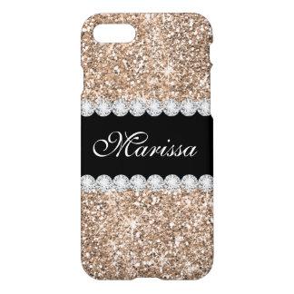 Pastel Rose Gold Glitter Zazzle iPhone 7 Case