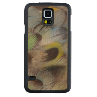 Pastel Rosella Feather Design Carved Maple Galaxy S5 Case