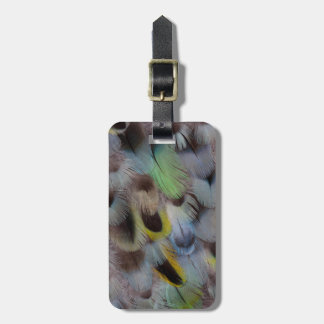 Pastel Rosella Feather Design Luggage Tag