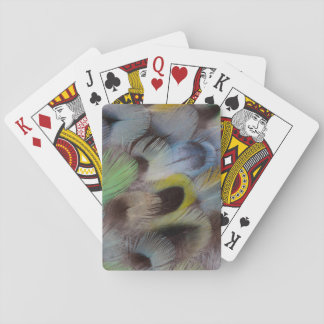 Pastel Rosella Feather Design Playing Cards