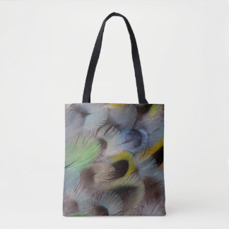 Pastel Rosella Feather Design Tote Bag