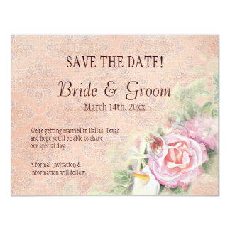 Pastel Roses & Calla Lilies  - Save the Date Card 11 Cm X 14 Cm Invitation Card