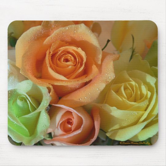 Pastel Roses-Mousepad Mouse Mat
