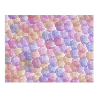 Pastel Roses Pattern Post Cards