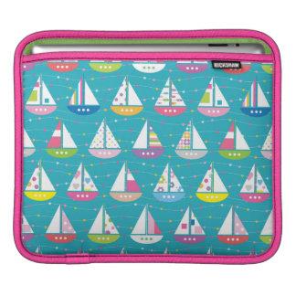 Pastel Sailboat Pattern iPad Sleeve