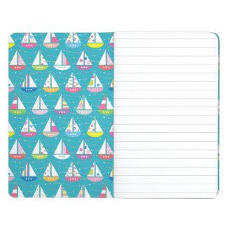 Pastel Sailboat Pattern Journals