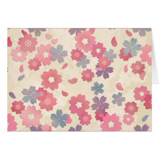 Pastel Sakura Cherry Blossoms Card