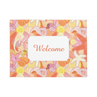 Pastel Sea Creature Pattern | Add Your Text Doormat