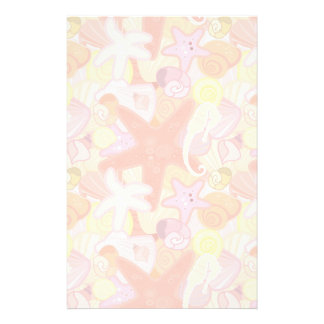 Pastel Sea Creature Pattern Custom Stationery