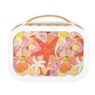 Pastel Sea Creature Pattern Lunch Box