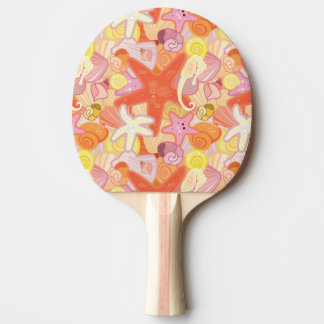 Pastel Sea Creature Pattern Ping Pong Paddle