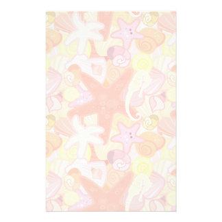 Pastel Sea Creature Pattern Stationery