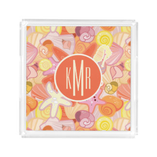 Pastel Sea Creatures | Monogram Acrylic Tray