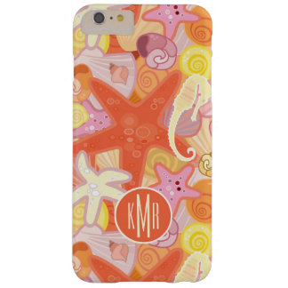 Pastel Sea Creatures   Monogram Barely There iPhone 6 Plus Case