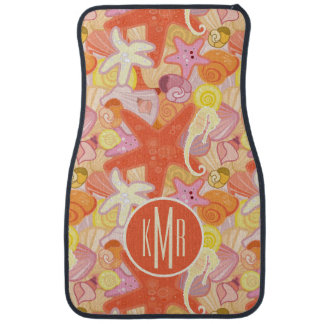 Pastel Sea Creatures | Monogram Car Mat