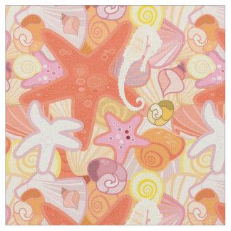 Pastel Sea Creatures   Monogram Fabric