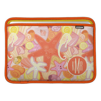 Pastel Sea Creatures | Monogram MacBook Sleeve