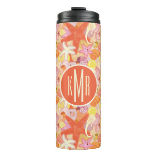 Pastel Sea Creatures | Monogram Thermal Tumbler