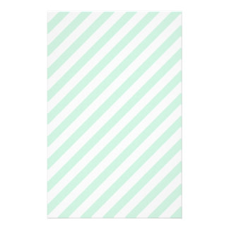 Pastel Sea Green and White Stripes. Stationery