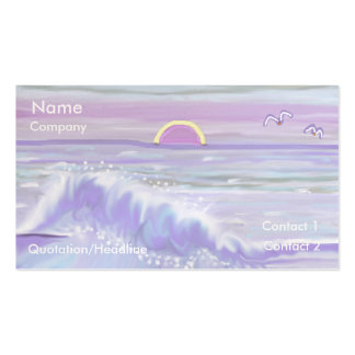 Pastel Seascape Business Card