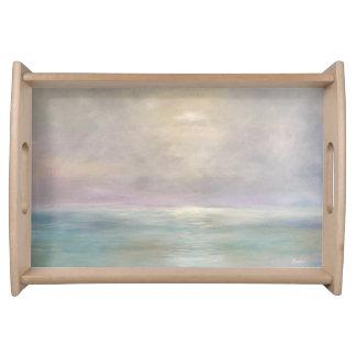 Pastel Seascape Serving Tray