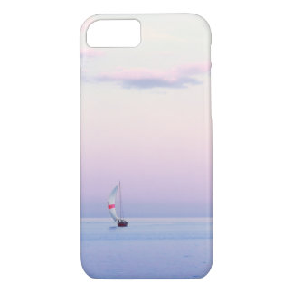 Pastel Seascape with a Sailboat iPhone 7 Case